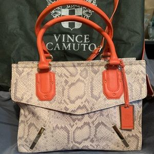Vince Camuto Snakeskin handbag with dust cover